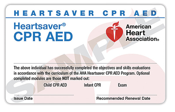 American Heart Association (AHA) Heartsaver CPR AED Course Logo