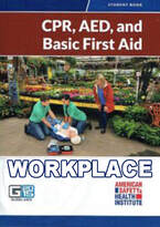 American Safety and Health Institute (ASHI) Basic Workplace CPR First Aid course logo