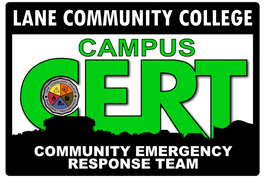 Lane Community College Campus Community Emergency Response Team (C-CERT) logo.